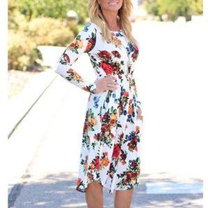 Dresses & Skirts - Long Sleeve Fall Floral Dress